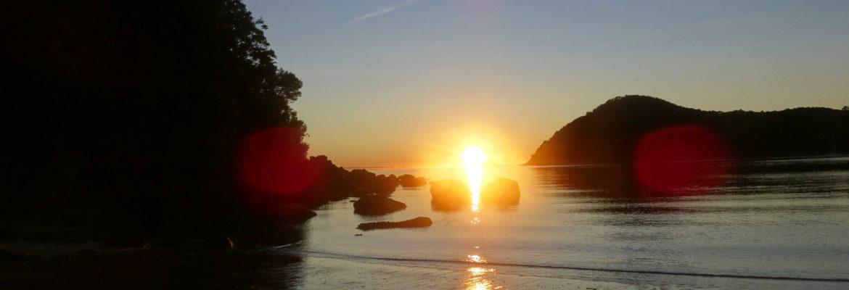 Sonnenaufgang Abel Tasman Nationalpark